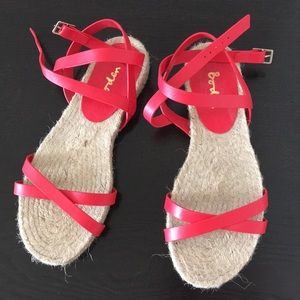 45827030ee0 Boden Shoes - Boden Red Coral Leather Espadrille EUC 38